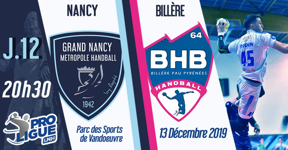 Nancy - Billière le 13/12/2019 à 20h30