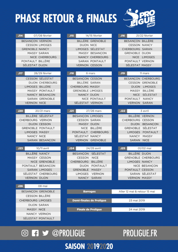 Handball Calendrier.Calendrier Proligue 2019 2020 Grand Nancy Metropole Handball